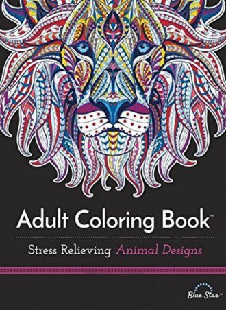 Adult Coloring Book - Animal Designs